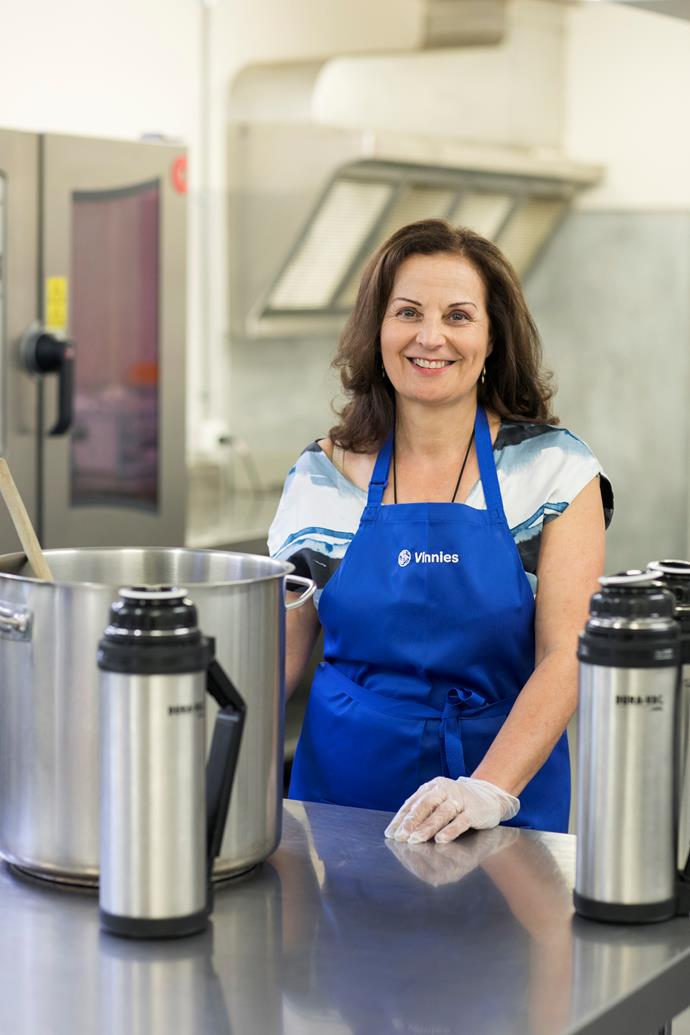 Lina Pahor is still delivering soup to the needy despite the pandemic's developing situation.
