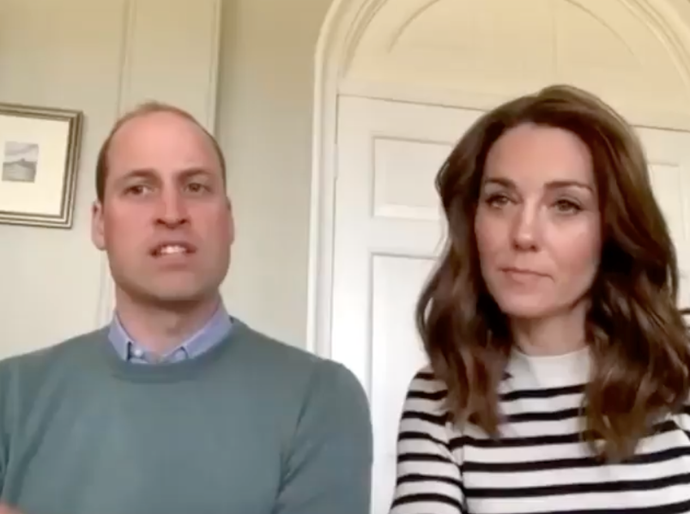 Kate's stripy jumper is perfect for those WFH Zoom calls.