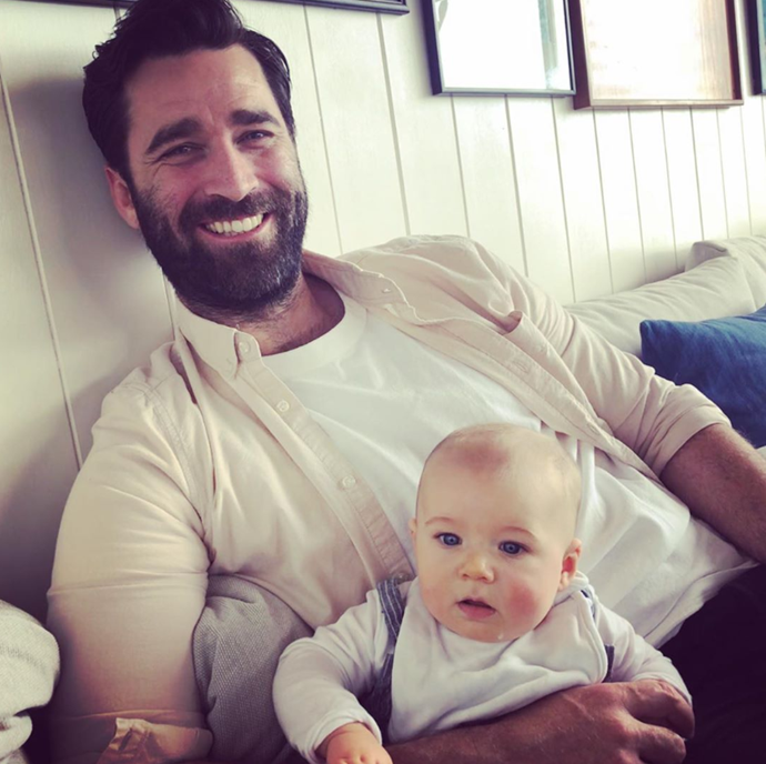 New dad Lynton is loving his cooking videos with baby Atticus.