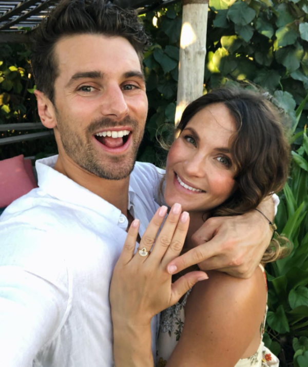 The couple first shared the news of their engagement on Instagram.