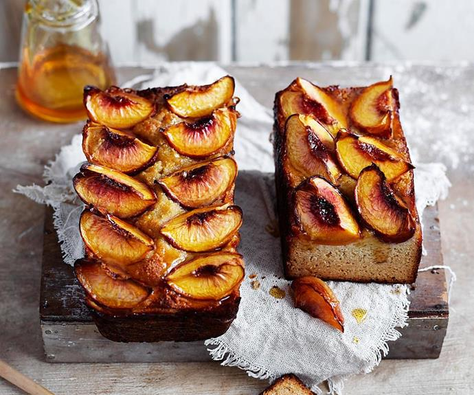 "**Flourless almond, peach and orange blossom loaves** <br><br> These tasty little loaves are the perfect accompaniment with a cup of tea on a lazy afternoon. <br><br> **[Read the full recipe here.](https://www.womensweeklyfood.com.au/recipes/flourless-almond-loaves-31092|target=""_blank""