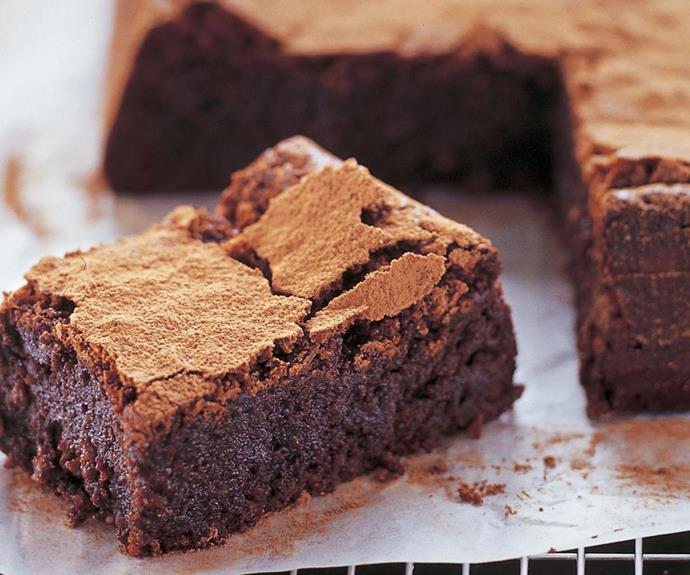 "**Flourless hazelnut chocolate cake** <br><br> Serve this versatile fudge-like chocolate cake as a dessert with ice-cream, for morning or afternoon tea, or freeze in slices and indulge later! <br><br> **[Read the full recipe here.](https://www.womensweeklyfood.com.au/recipes/flourless-hazelnut-chocolate-cake-26554|target=""_blank""