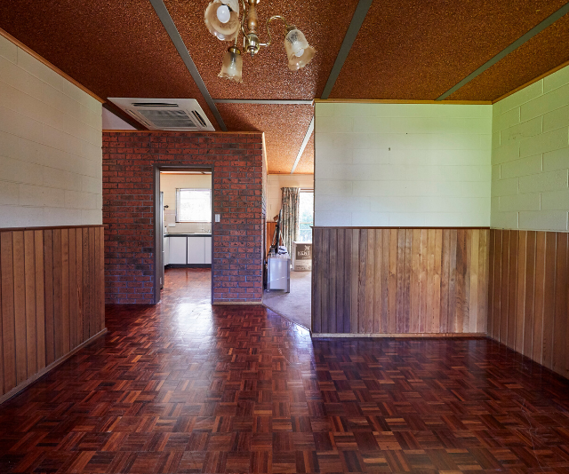 The old-fashioned timber and lino details were ready for a makeover.