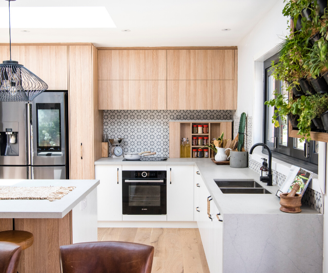 Skylights, high-tech cabinetry and a calming feel - Lenore and Bradley's kitchen had it all.