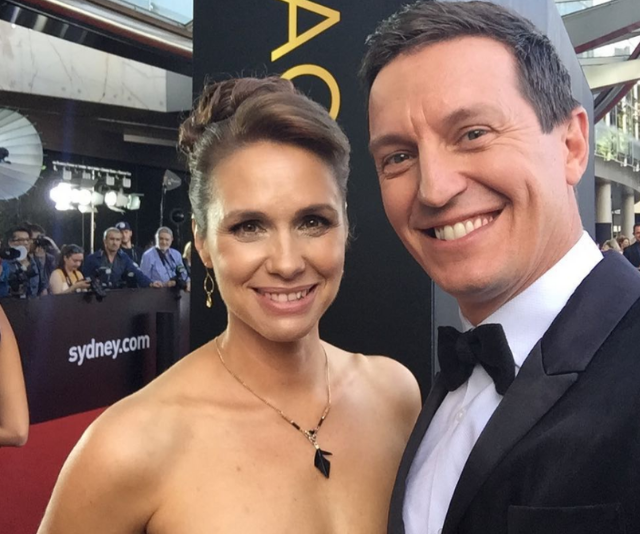 """Rove says he's proud to be a """"handbag"""" to Tasma and her acting success."""