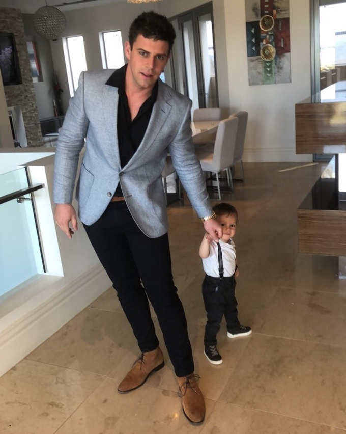 Michael with his son Connor in 2019.