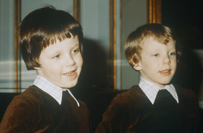 Princess Isabella looks just like her father Crown Prince Frederik (left) when he was a youngster.