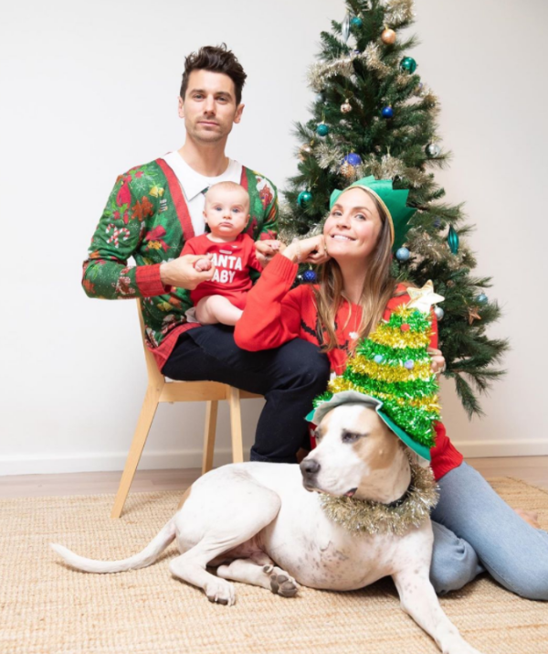 The family's first Christmas photo together did not disappoint.