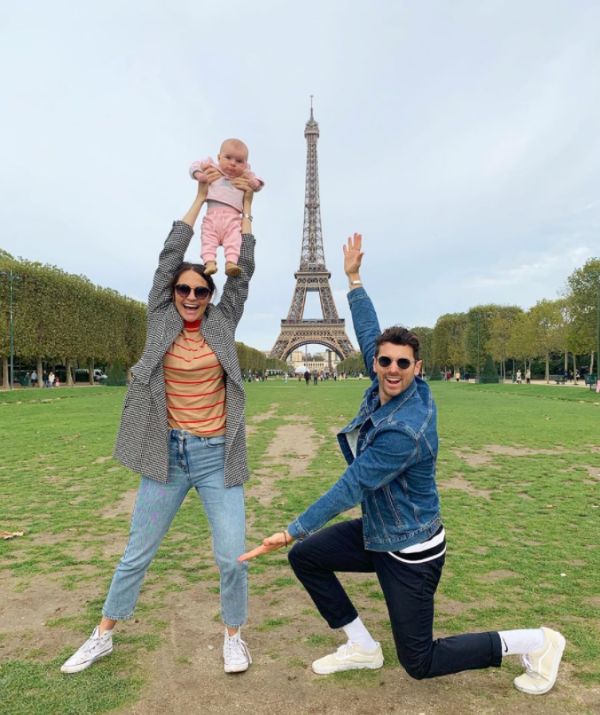 "And then they were off to Paris! Matty hilarious captioned this post: ""It's always awkward asking people to take photos for us"""