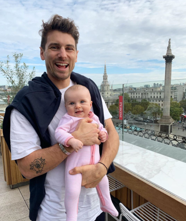 The parents braved a 25-hour flight to London, taking Marlie on her first overseas adventure.
