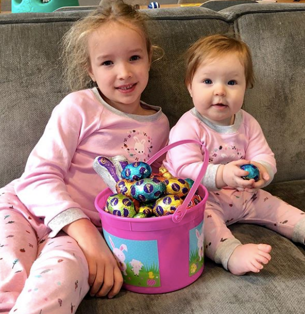 The Easter bunny certainly provided the goods this year! Trixie and Daisy's Easter hunt was obviously well worth the grunt work.