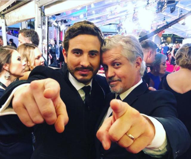 Ryan and Dan Wyllie on the TV WEEK Logie Awards red carpet in 2019.