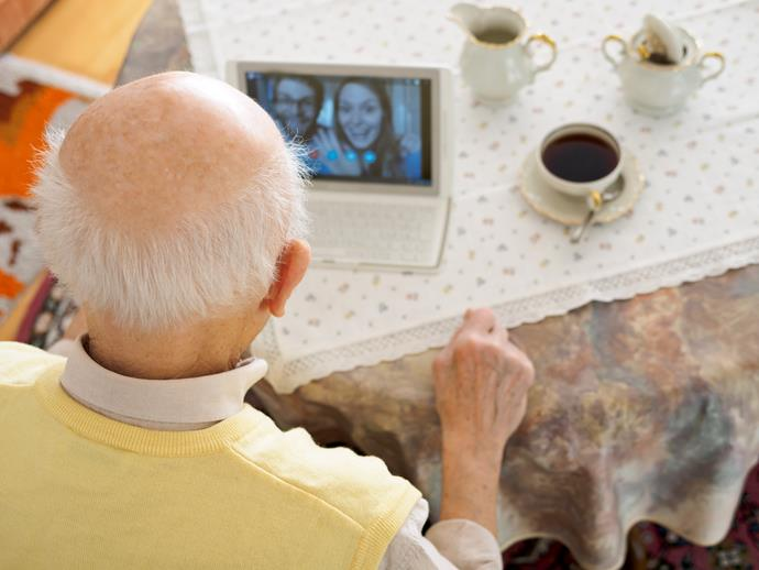 A video chat with a veteran could make their day.