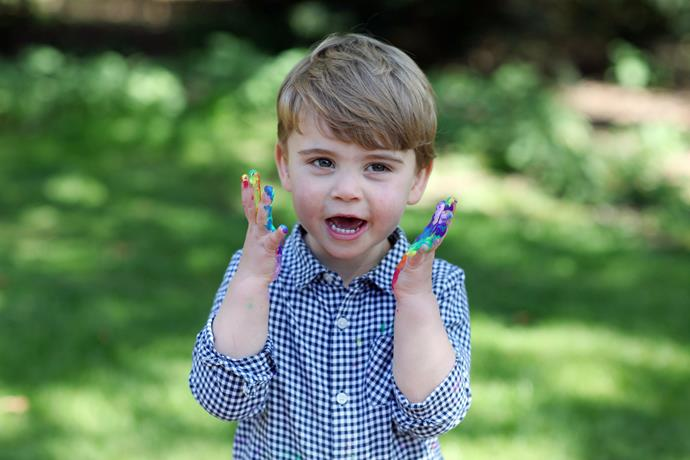 Prince Louis is growing up so quickly! The young royal brought out his creative side with a slew of rainbow paint.
