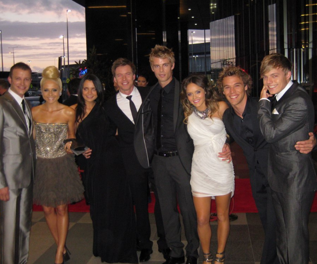 The way they were! Todd and his *Home and Away* co-stars.