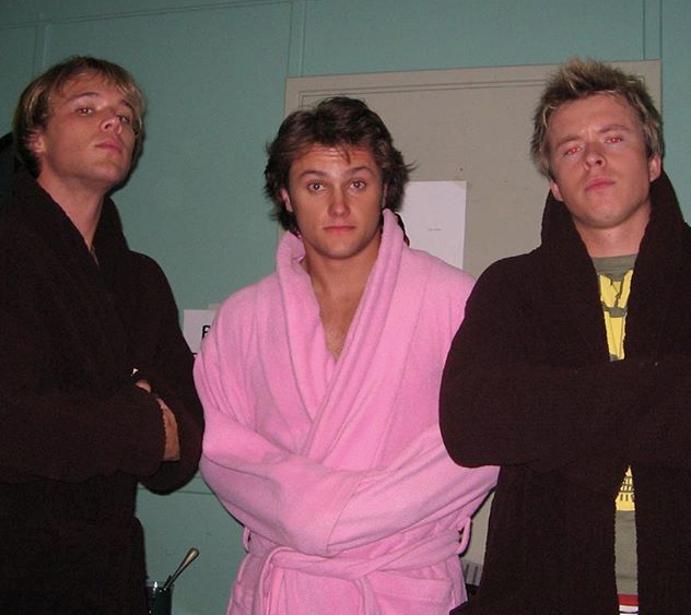Behind the scenes snaps are always a joy, particularly when Mark Furze is in a bright pink robe...