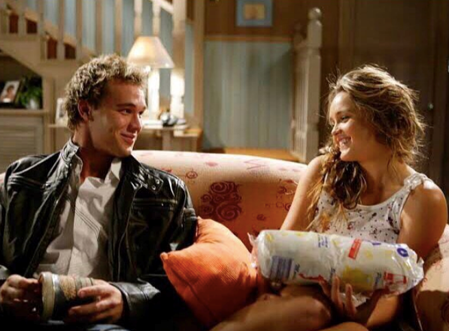 Characters Geoff and Ruby had an undeniable spark on the show - but IRL, actress Rebecca Breeds married another co-star, Luke Mitchell.