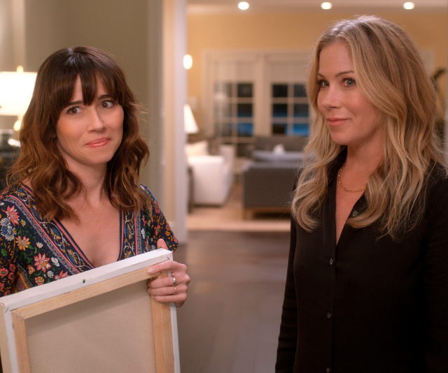 Christina Applegate and Linda Cardellini star in *Dead To Me*.