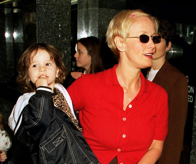 April 24th 2020 marks what would have been Paula Yates' 61st birthday. Tragically, the British presenter passed away from an accidental overdose in 2000.  <br><br> Here, Paula holds Tiger Lily at the UK premiere of the *The Rugrats Movie* in London in 1999.