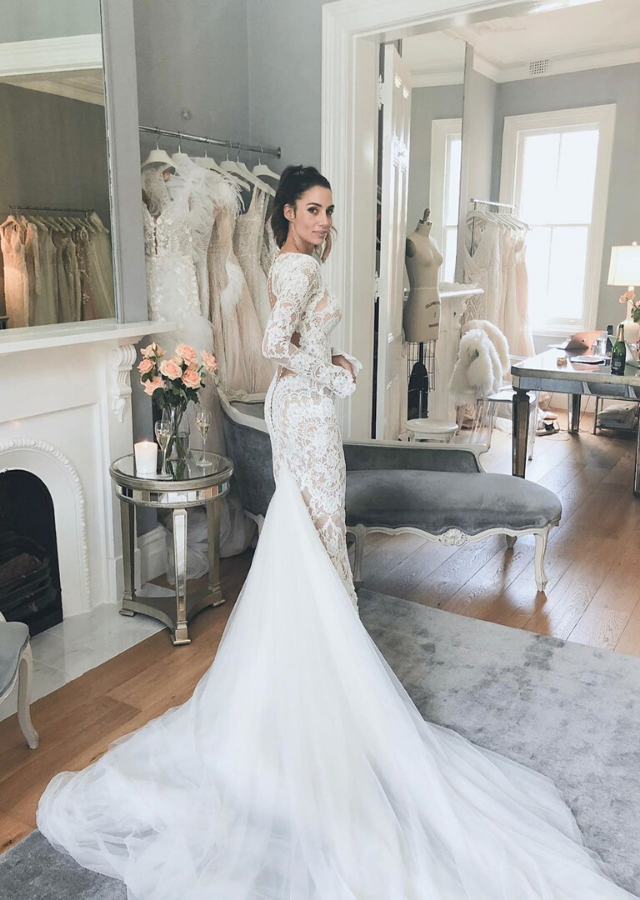 The custom gown in all its glory.