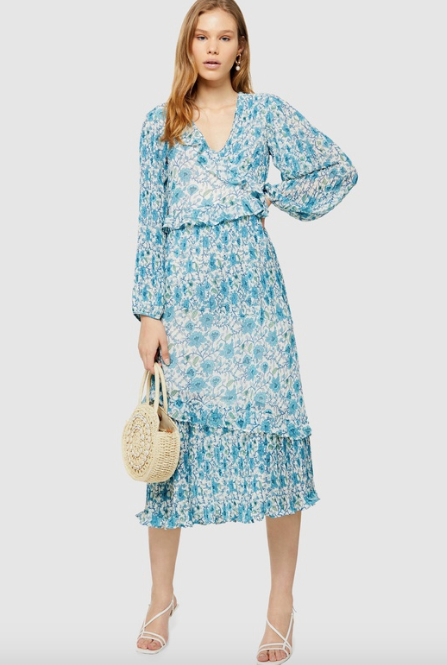 "This lighter design by Topshop is perfect for those in-between seasons kind of days. $59.97, [buy it online via Topshop here](https://www.theiconic.com.au/floral-pleat-midaxi-dress-963088.html|target=""_blank""