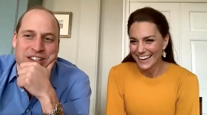 From the smidgen that we caught of Kate's orange jumper, we could safely say we were smitten.