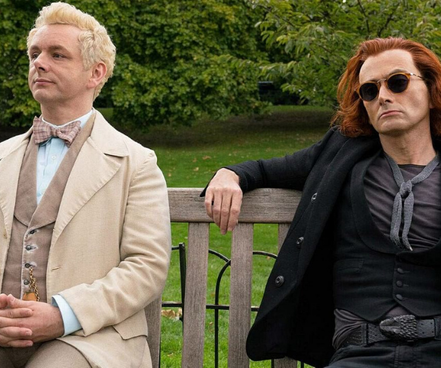 **Good Omens** <br><br>  In this fantasy series an angel and a demon are forced to team up to try and stop the approaching Armageddon. The unlikely duo make for a hilarious pairing and are perfectly played by Michael Sheen and David Tenant in the very well-adapted series.
