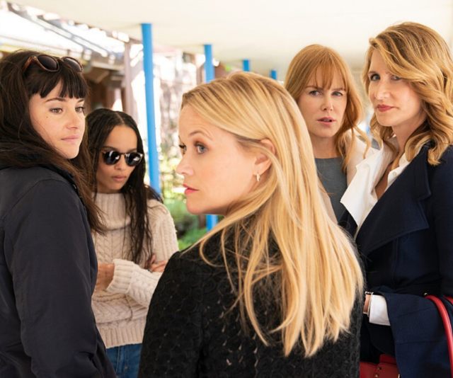 **Big Little Lies**  <br><br> It may seem an obvious choice, but HBO series *Big Little Lies* has been one of the biggest TV shows of the past years. The all-star cast, Nicole Kidman, Shailene Woodley, Zoë Kravitz, Reese Witherspoon, the list goes on, bring the story of five women entangled in murder, secrets and lies, to life.
