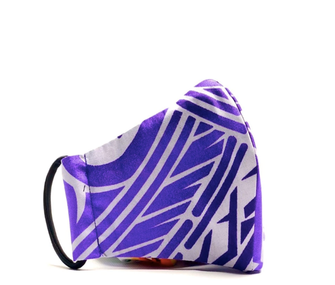 """We weren't kidding when we said they went all out on the prints. [Shop this purple design here](https://www.theecomask.com/