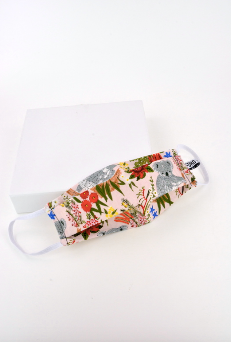 """Priced around $24.95, the designs vary from simple colours to bright and bold prints. Personally, we're big fans of this koala design. [Shop it here](https://fordmillinery.com.au/product/masks-4-mates/