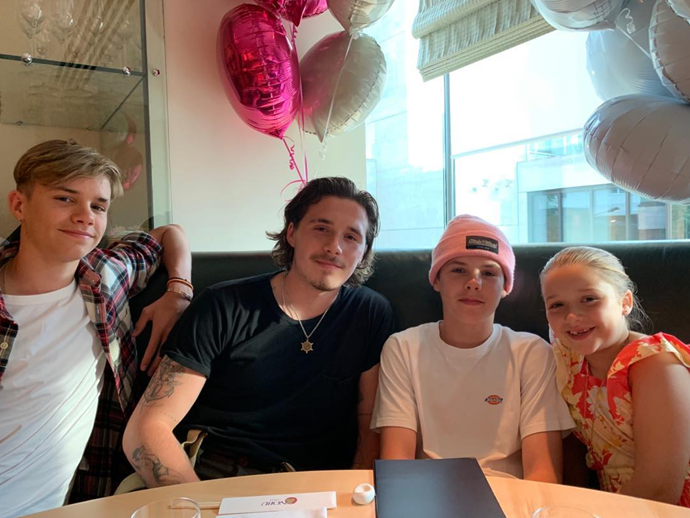 The Beckham siblings joined forces for Harper's eighth birthday.