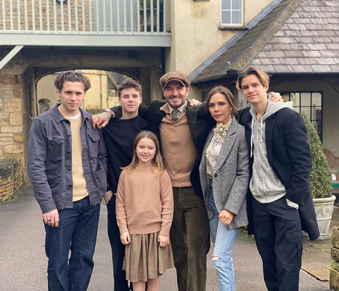 The Beckhams rang in 2020 with a new family photo to celebrate the new year.