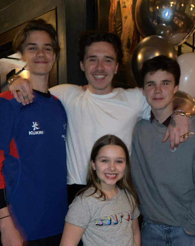 And of course Brooklyn had a celebratory photo with his siblings for his milestone birthday.