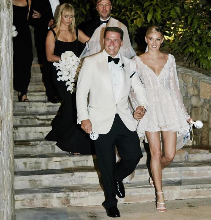 According to Allegra, Cass wanted to know what people were saying about her ex Karl Stefanovic and his new bride Jasmine Yarbrough.