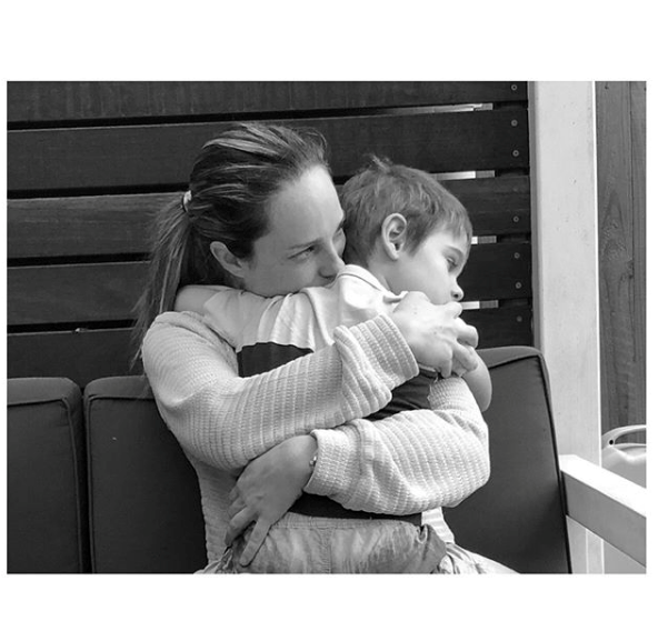 """Mum hugs are the best kind of hugs - and Jack certainly knows it. The *Home and Away* actress got real during the COVID-19 lockdown, writing: """"Listen, whatever the opposite of a doomsayer is, I'm that. So I've been thinking... one good thing that comes from troubling times is how clear one's priorities become. Skinny thighs and vacuumed floors are over-rated.But cuddles are excellent."""" <br><br>"""