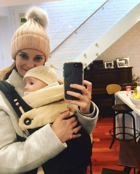 Seriously, could these two be any cuter? The matching hats are sending us!