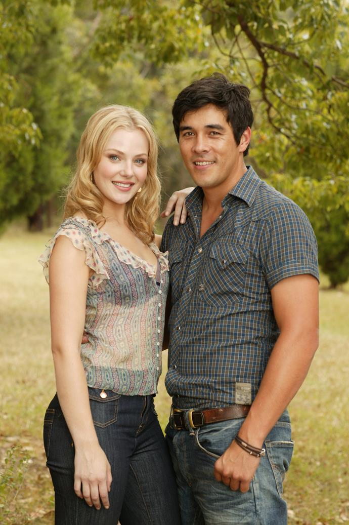 Young love: A fresh-faced Jessica and James met on the set of Channel Seven's *Packed To The Rafters*.