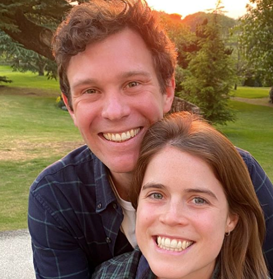 The Princess shared this sweet picture with husband Jack Brooksbank for their 10th wedding anniversary.
