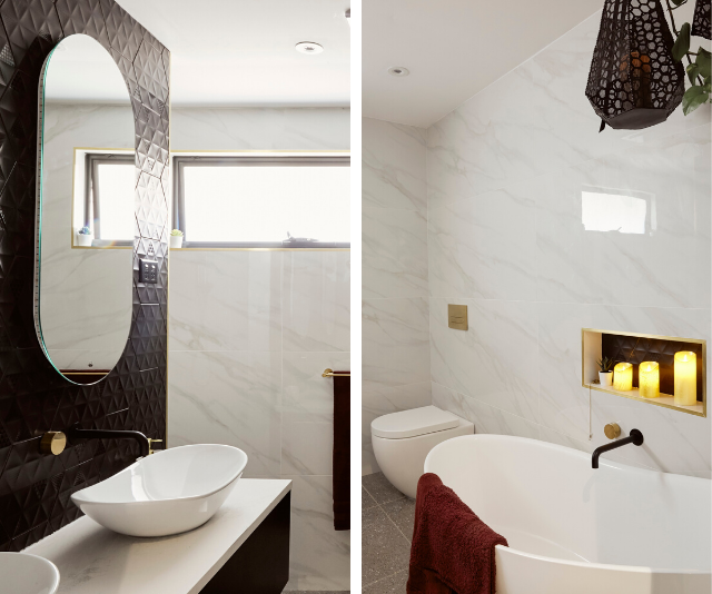Thanks to plumbers Aimee and Kayne, the bathroom is now a modern and relaxing space.