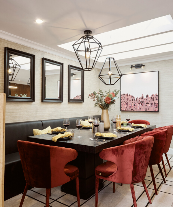 Laith wanted a space where his family could come over and gather, and this hit the mark!