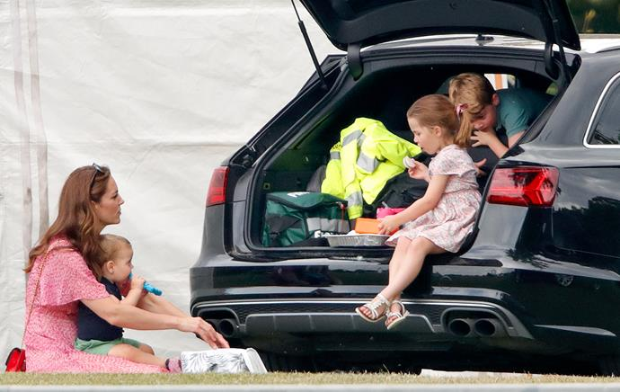 But there's always time for a snack. In true down-to-earth style, the royal family had a good old-fashioned car boot picnic later in the day.