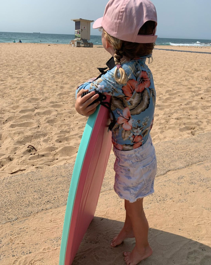 Mae's ready to hit the waves!