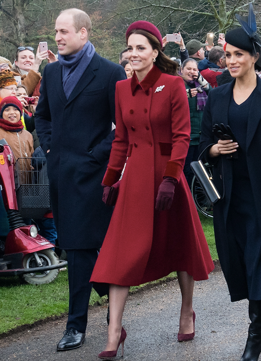 Kate's heavenly red Catherine Walker coat turned heads at Christmas 2018 - and her matching pillbox hat was the cherry on top of the fashion-forward pie.