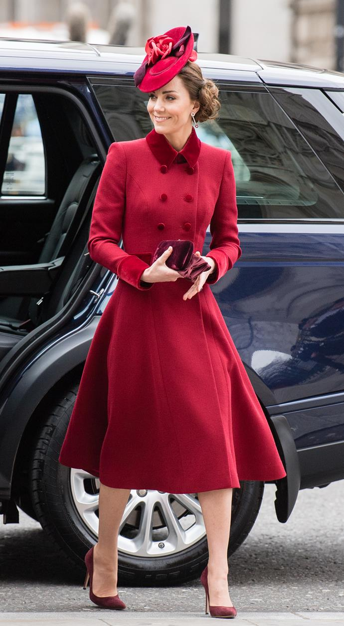 So when she stepped out in the same coat for the Commonwealth Day service in March 2020, you couldn't blame fans for coveting the regal ensemble once more.