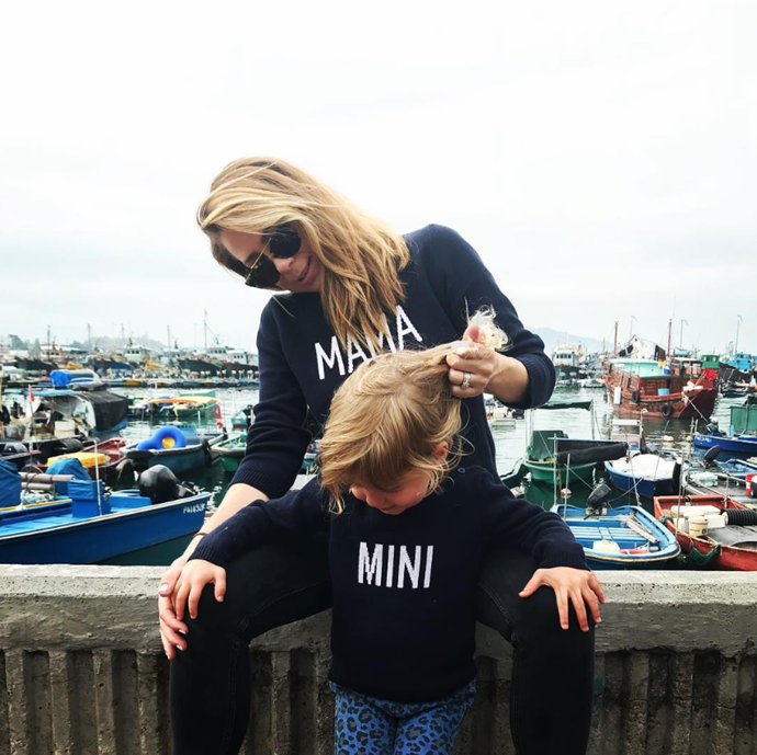 There aren't many mum-daughter pairings who can rock matching jumpers, but Kate and Mae sure can.