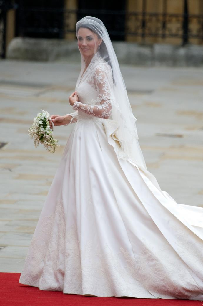 """I had no idea it would be as big as it was,"" designer Sarah Burton said of the iconic wedding dress."