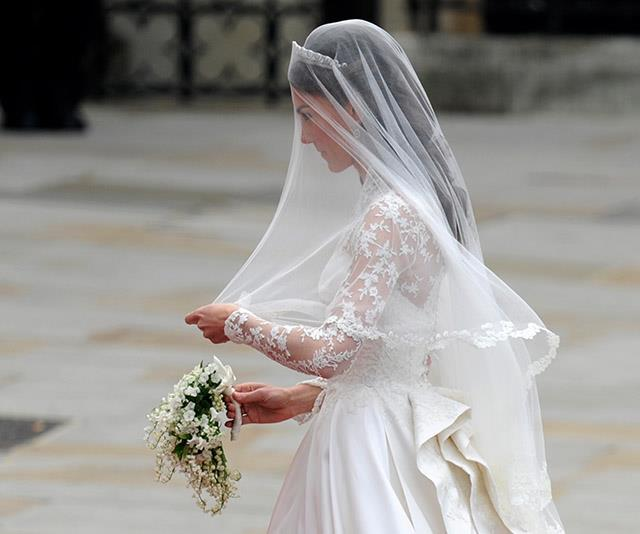 Duchess Catherine's wedding dress designer was found out by the press ahead of the big day.