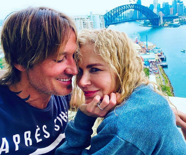 The couple pictured relaxing together in Nicole's hometown of Sydney over Christmas.