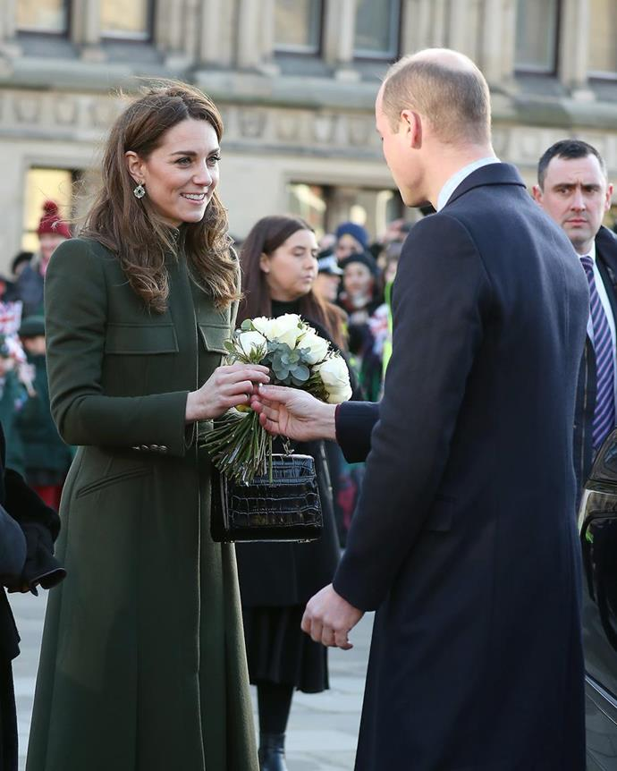 "The love between these two has never faltered. Whilst [on a public walkabout in January 2020](https://www.nowtolove.com.au/royals/british-royal-family/kate-middleton-prince-william-bradford-62173|target=""_blank""), Wills delivered a bunch of flowers meant for Catherine in front of the crowds. Suffice to say they went wild."