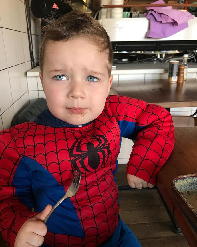 Spiderman wasn't having a good day in this pic.